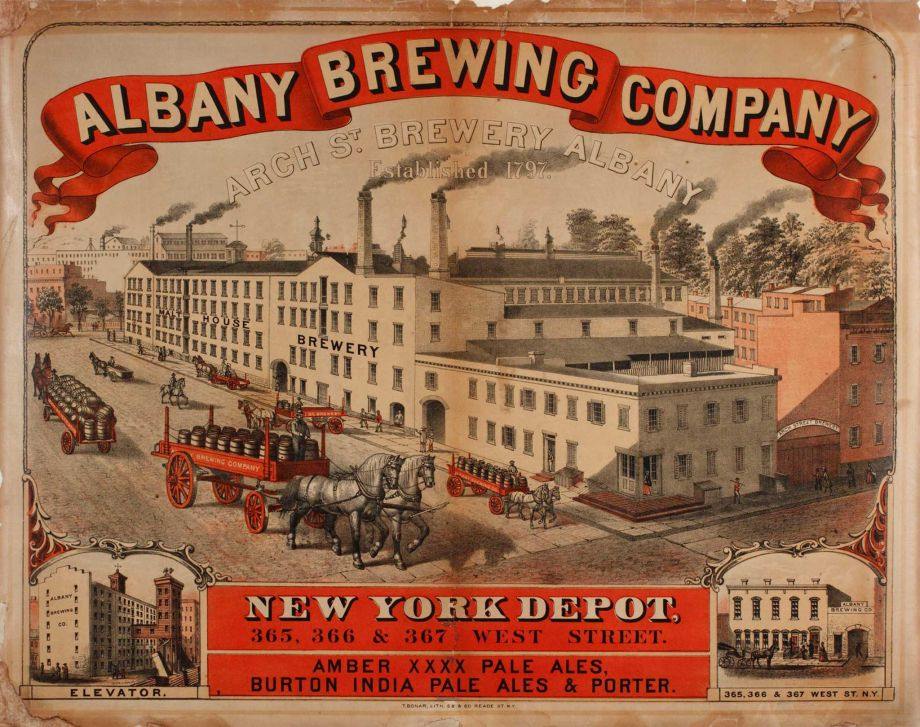 "Albany Brewing Company Lithographer, T. Bonar ht.21 1/2"" x w.27 1/2"" Albany Institute of History & Art, 1954.59.12"