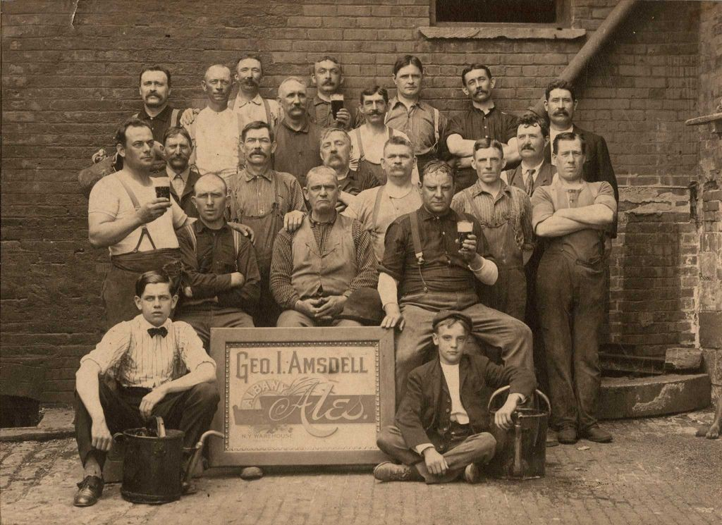 Workers at George I. Amsdell Brewery, Albany c.1910 toned gelatin silver print Albany Institute of History & Art Library, P2657.84