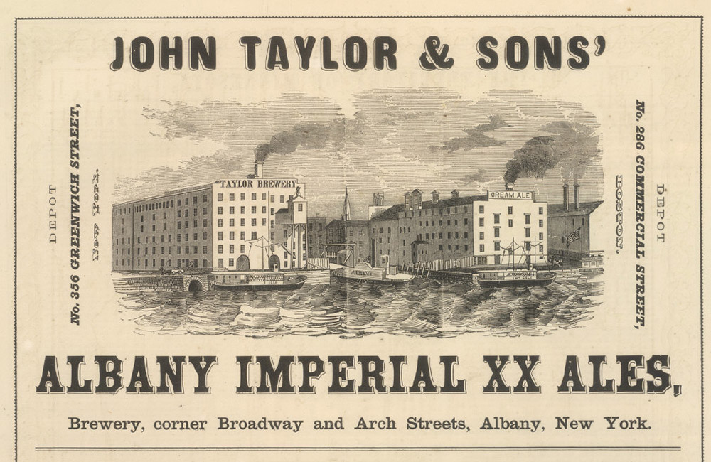 An advertisement for John Taylor & Sons. Originally appeared in the 1866 City of Albany Directory.